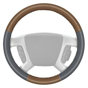 Wheelskins Europerf Perforated Oak Steering Wheel Cover W Gray Sides Color