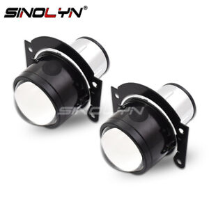 Universal Hid Bi xenon Fog Lights Projector Lens Driving Lamps H11 High Low