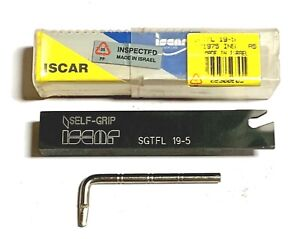 Iscar Sgtfl 19 5 Indexable Turning Grooving Cut Off Self Grip Tool Holder