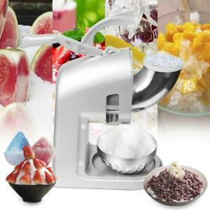 Electric Ice Crusher Shaver Machine Snow Cone Maker Shaved Ice 440 Lbs