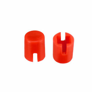 50pcs 4 6x5 5mm Pushbutton Switch Caps Cover Red For 6x6x7 3mm Tact Switch