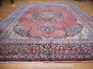 C1930 Super Antique Signed Classic Serapi Bijar Bidjar 10x14 Estate Sale Rug