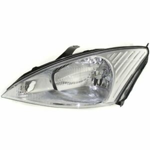 Headlight For 2000 2001 2002 Ford Focus Left Halogen With Bulb