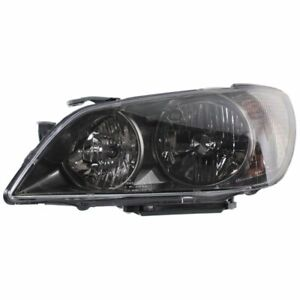 Headlight For 2004 2005 Lexus Is300 Left With Bulb Clear Lens Black Housing