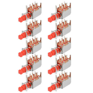 Push Button Switch Dpdt 6 Pin 1 Position Self locking Red 10pcs