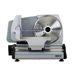 Electric Meat Slicer Commercial Food Cooks Steel Deli Cheese Cutter Nesco Fs 200