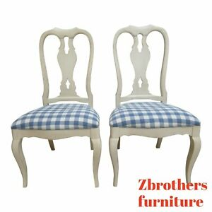 Ethan Allen Country French Legacy Painted Dining Room Side Chairs B