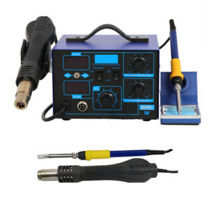 2in1 Smd Digital Soldering Station 862d Hot Air Gun Soldering Iron 4 Nozzles