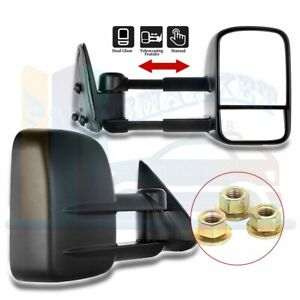 Manual Extending Side View Tow Mirrors Pair For 99 07 Chevy Silverado Gmc Sierra