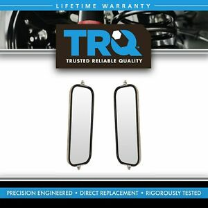 Trq West Coast Mirror Ribbed Back 16x7 Stainless Steel Pair For Heavy Duty Truck
