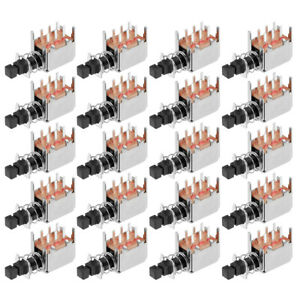 Push Button Switch Dpdt 6 Pin 1 Position Self locking Black 20pcs