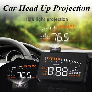 Universal Obd2 Car Hud Head Up Display Temperature Overspeed Warning System
