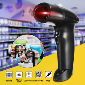 Automatic Usb Laser Scan Barcode Pos Scanner Bar Code Reader Shop Supermarket