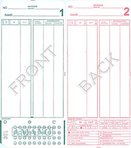 Amano Mjr 7000 Mjr 8000 Time Clock Cards Number Series 000 099 1000 Time Per