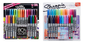 Ultra fine Point Permanent Markers 80s Glam And Electro Pop Colors 48 Markers