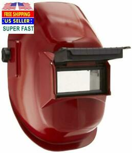 Sellstrom 29371 Nylon Red Coated Welding Helmet With 4 1 4 Width X 2 Height Se