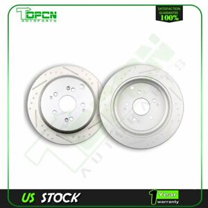 Fits 2002 2004 Honda Odyssey 3 5l V6 4wd Rear Slotted Brake Discs Rotors Kit
