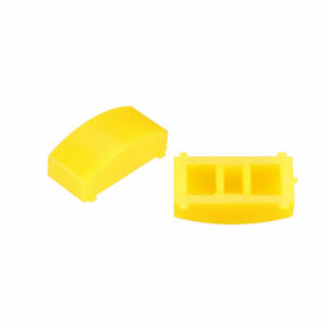50pcs 12 4x4 5mm Tact Switch Cap Cover Yellow For 8x8 Latching Pushbutton Switch