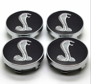 4x Pc Set Ford Mustang Cobra Gt Snake Shelby Wheel Center Hub Caps 60mm