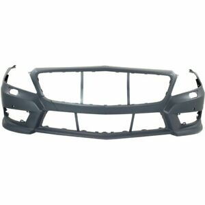 Front Bumper Cover For 2012 2014 Mercedes Benz Cls550 W Amg Pkg Parktronic Holes