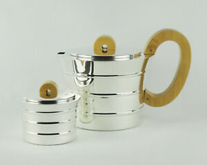 Jean Puiforcat Epsilon Sterling Silver Tea Coffee Art Deco Service