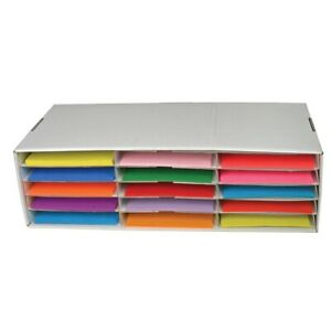 Classroom Keepers 9x12 inch Construction Paper Storage Box Small