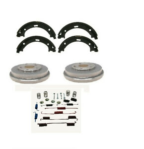 Chevrolet Silverado 1500 Rear Brake Drums Brake Shoes Spring Kit 2009 2013