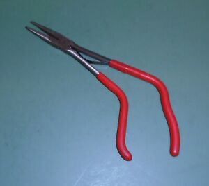 Snap On Tools Model 912ep Pistol Grip Needle Nose Pliers Red Handle