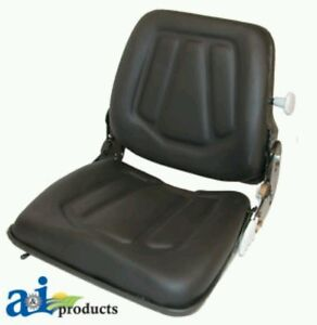 Forklift Seat With Slide Track Fits Most Forklifts Black