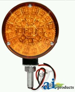 Led Round Amber Single Post Warning Light