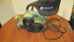 Vintage Rockwell Model 4461 3x21 Belt Sander With Dust Bag From A Local Estate