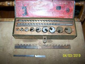 Vintage Threadwell Keyway Cutter Set 1 8 3 16 1 4
