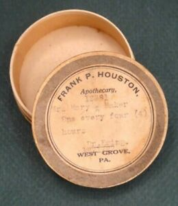 Antique West Grove Pa Apothecary Medicine Box Frank Houston Mary Baker Dr Erwin