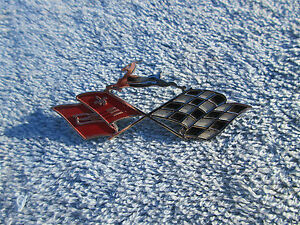 1961 Chevrolet Impala Cross Flags Dash Emblem Bubbletop