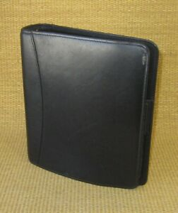 Classic 1 5 Rings Black Leather Franklin Covey quest Open Planner binder Usa