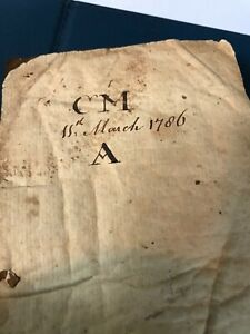 18th Century 1786 Dated Leather Pocket Diary Note Book Rare Sarah M