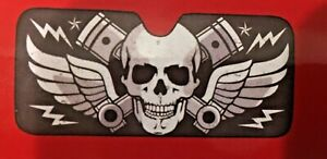 Skull Pistons Car Truck Front Windshield Accordion Folding Sun Shade New