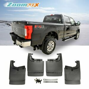 Fit 2017 2019 Ford F250 F350 Without Flare Front Rear Splash Guards Mud Flaps