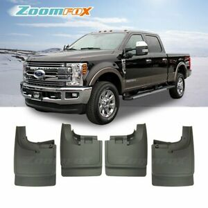 Fit 2017 2019 Ford F250 F350 With Oem Flare Front Rear Splash Guards Mud Flaps