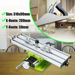 2 Axis Diy Milling Machine Vise Fixture Working Table Worktable For Bench Drill