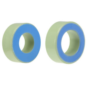 12 2mm 26 9mm Inner Dia Ferrite Ring Iron Powder Toroid Cores Light Green Blue