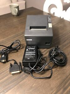 Epson Tm t88iv Pos Thermal Printer M129h Parallel Interface W power Adapter