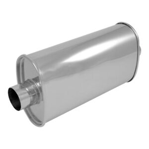 2 25 Center In Out Vibrant Streetpower Oval Muffler Stainless Steel 1101