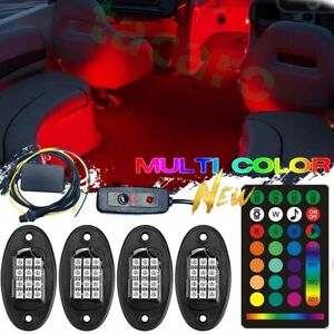 6pcs Led Light Rgb Boat Marine Deck Rv Interior Lighting Kit Glow Neon Strip
