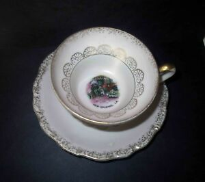 Antique Japanese Pink Egg Shell Porcelain Tea Cup Saucer New Orleans Le Roi