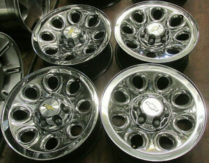 Chevy Truck Van Suv 17 Factory Original Oem Chrome Clad Wheels Rims 5223