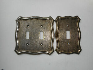 Vintage American Tack Hardware 1968 Metal Double And Single Light Switch Cover