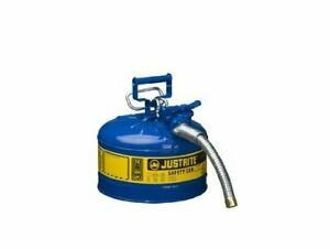 2 5 Gal Gas Can Tank Round Metal 2 1 2 Gallon Gl Storage Sturdy Safe Best Steel
