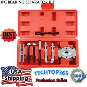14pc Gear Hub Bearing Separator Puller Set 2 3 Splitter Wheel Remover Tool Kit