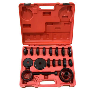 23pcs Car Front Wheel Bearing Press Removal Adapter Puller Pulley Tool Case Set